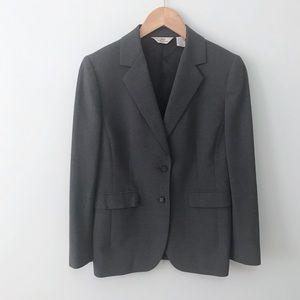 BROOKS BROTHERS Gray Wool Blend Blazer Jacket
